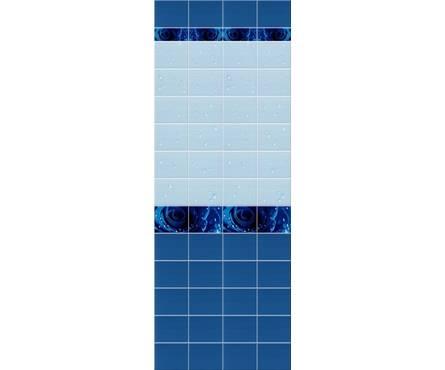 ПВХ Панель UNIQUE 3D 2700*250*8мм Капли Росы Синий Декор из 2 шт. (0,675 кв. м, в уп. 12 шт.)