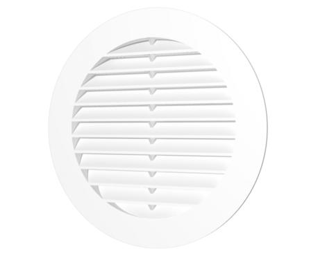 Решетка вентиляционная круглая с пластиковой сеткой D150 с фланцем D125