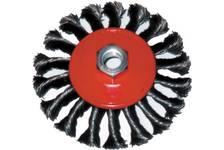 Корщетка-колесо 100 мм витая, с наклоном, гайка М14