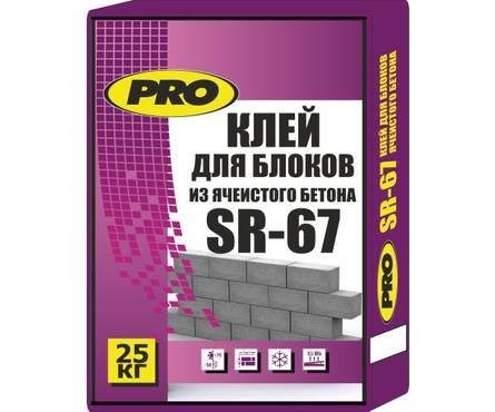 Клей PRO SR-67 для блоков 25 кг Фотография_0