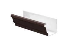 Желоб водосточный МП 120х86х3000 мм (коричневый 8017)