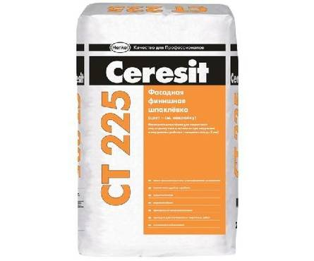 Шпаклевка CERESIT CT225 фасадная финишная серая 25кг Фотография_0