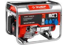 Бензиновый генератор ЗУБР ЗЭСБ-5500, 5500 Вт, (220,12V, 5,5/5 кВт, 13 л.с., 25 л, 75 кг)