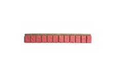 Планка цокольная VOX SM 13х90 мм, красный жженый