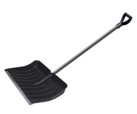 Лопата для уборки снега Usp 512х408 мм, алюминиевый черенок Фотография_0