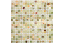 Мозаика Caramelle Mosaic Pietrine Onice Jade Verde полированная, 305х305х7 мм, чип 15х15 мм