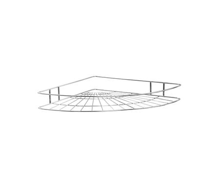 Полка для ванной 1 ярусная угловая овал высокая 4894-1, хром Фотография_0