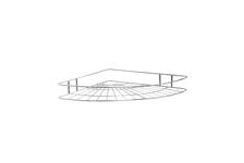 Полка для ванной 1 ярусная угловая овал высокая 4894-1, хром
