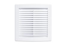 Решётка цилиндрическая вентиляционная вытяжная с сеткой без рамки 440х440 (белая)