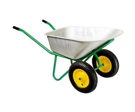 Тачка садово-строительная PALISAD, 2-х колесная, усиленная, грузоподъемность 320 кг, объем 100 л Фотография_0