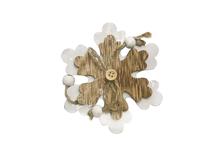 Елочное украшение Снежинка 10 см