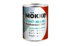 Грунт-эмаль Mokke по ржавчине 3 в 1, красная (0.9 кг)
