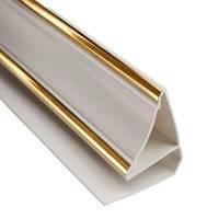 ПВХ Плинтус потолочный Золото (3м) Фотография_0