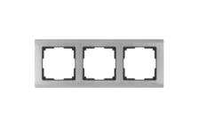 Рамка 3 Поста Универсальная Глянцевый никель Metallic Werkel