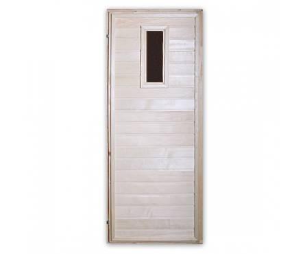 Дверь банная со стеклом Осина 700х1800 Фотография_0