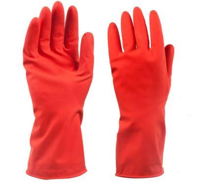 Перчатки резиновые многоцелевые S красные Фотография_0