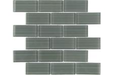 Мозаика Caramelle Mosaic Impressioni Mattoni Grigio 300х300 мм, чип 50х100 мм