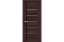 Дверь BRAVO Порта-22, Wenge Veralinga/Magic Fog, 200*70 см, Эко Шпон