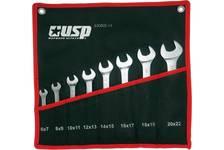 Ключи рожковые USP 6-22 мм, тетроновый чехол (набор 8 шт)