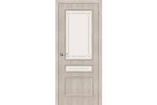 Дверь Bravo ЭКО Симпл-15.2 Cappuccino Veralinga, 200*80 см, стекло Mystic