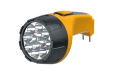 Фонарь светодиодный Navigator NPT-C05-ACCU 12+10LED, аккумулятор, с вилкой, пластик